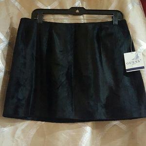 Guess Anastasia Velvet Black Mini skirt